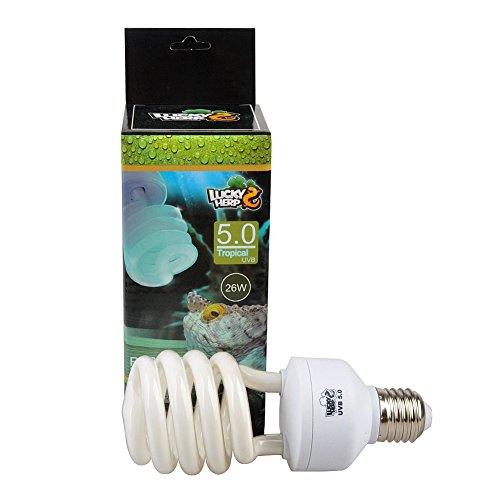 Lampada uvb 5% rettili fonte solare per far sintetizzare il calcio 26watt 5%