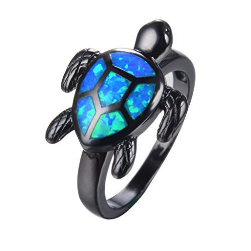 lixinsunbu-blue-turtle-animal-opal-rings-womens-black-gold-plated-engagement-gift