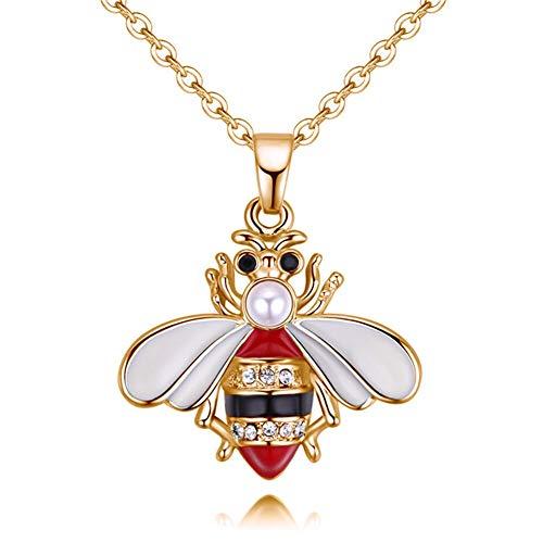HHDYGASRW Modeschmuck Biene Halskette Niedlichen Geformten Insekt Charme Anhänger Lange Halskette Für Frauen