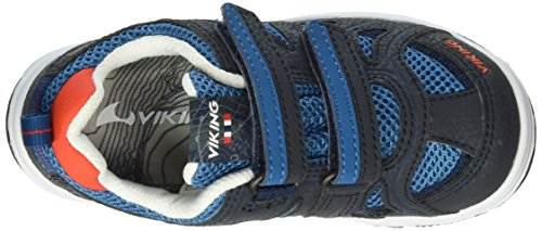 Viking Cascade Ii, Baskets Basses Mixte Enfant Bleu - Blau (Navy/Petrol 555)