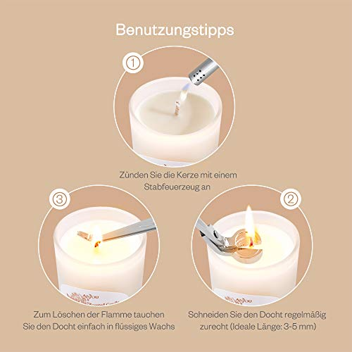 Anjou Duftkerzen Geschenkset 6 Pack, Aromatherapie Duft Set Soja Wachs, 15 Stunden Brenndauer Pro Kerze, 6 x 70 g