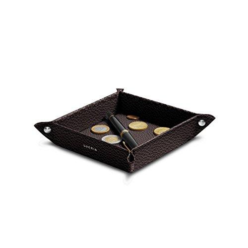 Lucrin - Petit vide poche carré (16 x 16 x 3 cm) - Cuir Grainé