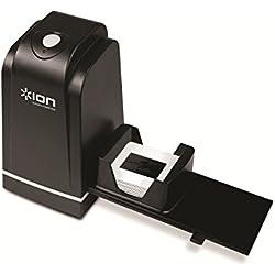ION - Slides 2 PC Scanner de diapositives et de négatifs 35 mm | Scanner haute résolution | Numérisation simple et rapide | Incl. Porte-diapositives ajustable Rapid Slide Feeder et logiciel