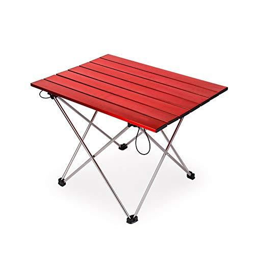 Outdoor Portable Seite Camping Picknick Kaffee Klapptisch mit Aluminium Tischplatte für Essen & Camping Kochen Ausrüstung Einfach Zu Reinigen (Essen Möbel)
