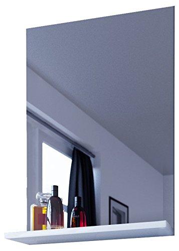"""VCM Spiegel Badspiegel Wandspiegel mit Ablage Badmöbel """"Sesal"""" 60 x 35 x10 cm"""