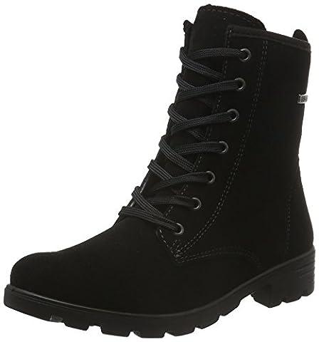 Ricosta Mädchen Disera Combat Boots, Schwarz (Schwarz 092), 35 EU (Ricosta 35)
