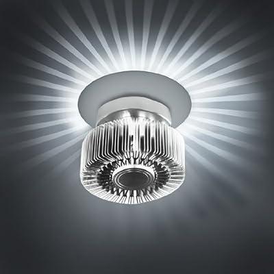 Effektleuchte Deckenleuchte Wandleuchte mit Lichteffekten in silber von Jago - Lampenhans.de