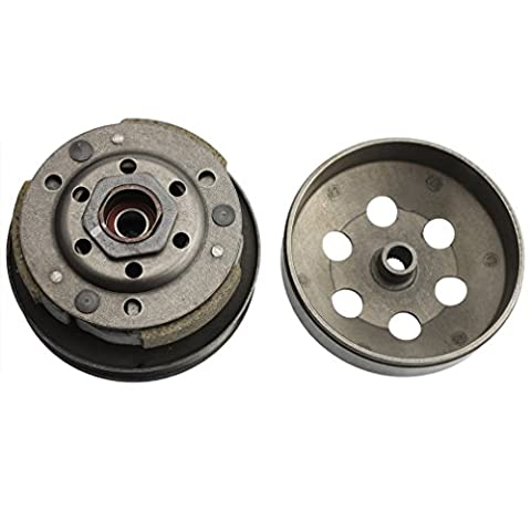 GOOFIT Complete Clutch Assembly Rear Clutch Driven Pully for GY6 49cc 50c 139QMB Scooter Taotao Roketa Sunl
