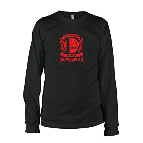 Bros Kostüm Smash - TEXLAB - Smash Brawler - Herren Langarm T-Shirt, Größe S, schwarz
