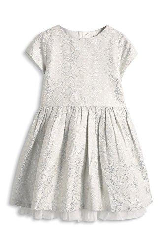 ESPRIT Mädchen Kleid 115EE7E003, Gr. 128 (Herstellergröße: 128/134), Weiß (OFF WHITE 110)