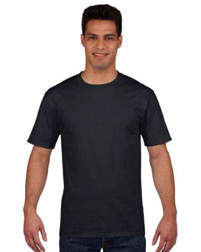 Gildan Premium T-Shirt für Männer (2XL) (Schwarz) XXL,Schwarz
