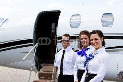 Stewardess Pilot (Alu-Dibond-Bild 140 x 90 cm: