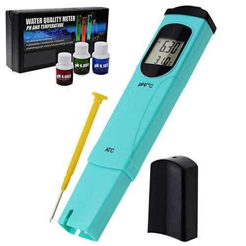 Digital pH Meter mit Temperatur Messung 0.0-14.0pH Wasser Qualität Prüfer mit ATC zum Aquarium, Labor Prüfung, Hydroponik Wasser Testen Pentype Werkzeug CE Markierung -