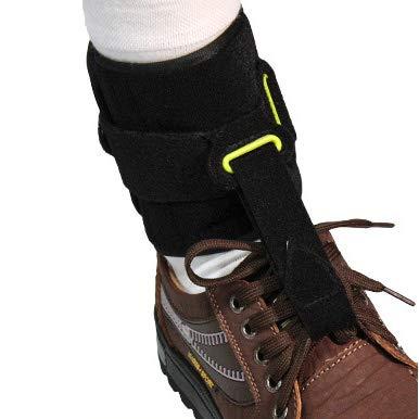 QINAIDI Knöchelunterstützung, Fußabfallkorrekturgürtel zur Vorbeugung von Krämpfen, Verstauchungen am Knöchel, Unterstützung bei Plantarfasziitis - Aircast Sport-knöchel-steigbügel