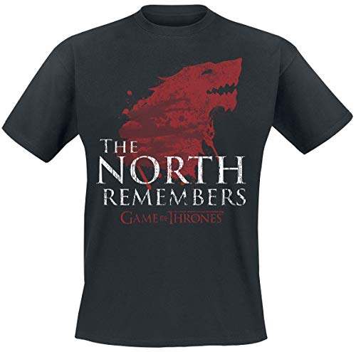 Game of Thrones Haus Stark - The North Remembers T-Shirt schwarz L