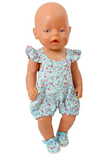 frilly-lily-torquoise-flower-romper-suit-for-small-dolls-and-bears-14-18-ins-45-50-cm-shoes-not-incl