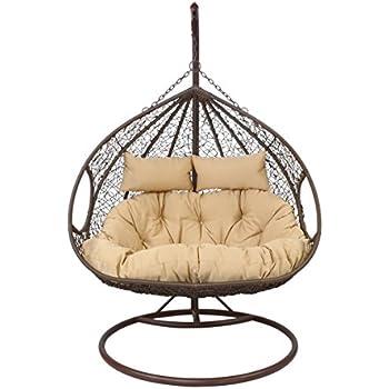 h ngesessel h ngestuhl close f r 2 personen 120x203 cm stahlgestell. Black Bedroom Furniture Sets. Home Design Ideas