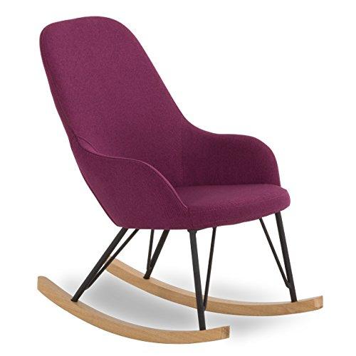 SalesFever Kinder Schaukel-Stuhl aus Stoff mit Armlehnen lila | Bob |Gemütlicher Lounge-Sessel für...