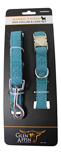 lovely-harris-tweed-dog-lead-and-collar-set-in-turquoise-blue-available-in-3-sizes