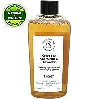 Face n Earth, LLC Green Tea, Chamomile & Lavender Toner with Hydrolyzed Wheat Protein & Vitmain B5 - All Skin.