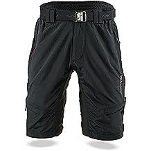 SILVINI Pantaloni Rango da mountain-bike, da uomo, Uomo, Mtb Hose Rango, Nero/Rosso, M