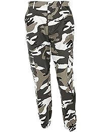 OVERDOSE Pantalon à Imprimé Camouflage, Femme Jogging Casual Sports Taille haute Trousers Jeans