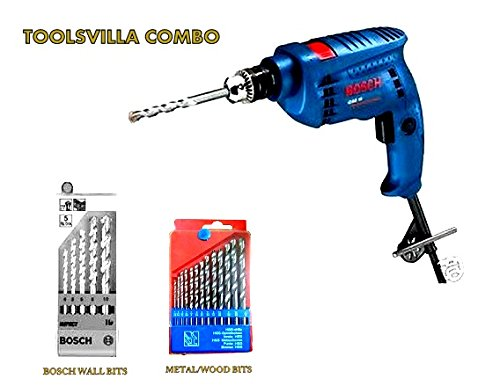 BrandsonSale and TOOLSVILLA COMBO-BOSCH(blue) GSB10 drill bosch set for wall drilling and 13pcs drill set for (Blue)