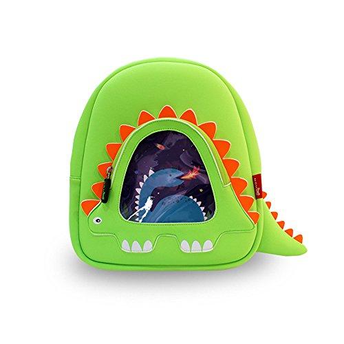 GreenForest bambini regalo Cute Toddler Zaini bambini zaino - verde Dinosaur(11.2*9.8*3.7 inch) - Natale regalo per 3-8 anni