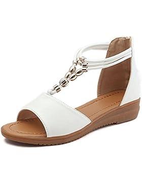 Sandalias para Mujer, RETUROM Sandalias de Las Señoras de Las Mujeres Cuña de la Zapatos Romanos de Vacaciones...