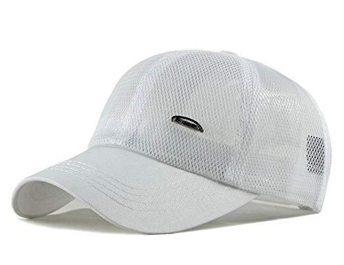 Chennuo Sommer Mesh Cap Baseballcap Damen Herren Basecap Trucker Cap Outdoor Sport Kappe (Weiß)
