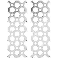Fafeicy 2pcs 2x6 placa de orificio de aluminio pintada de blanco para PITSCO TETRIX PRIME Robotics Parts 1.26x3.78x0.08in
