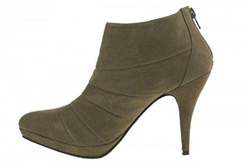 TOP Damen Plateau Boots High Heels Pumps Stiefeletten Schuhe brown braun