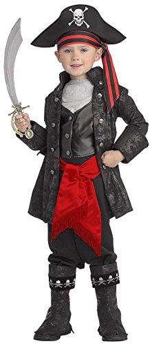 Captain Black Piraten Kinderkostüm - Blackhawks Halloween-kostüme