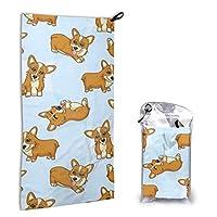 BetterShopDay Microfiber Towel Corgis Quick Dry Bath Beach Travel Towel For Compact Swim Outdoor Camping 15 7