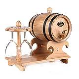 Holzfass Weinfass Eichenfass Whiskyfass Alter Eiche für die Weinbereitung Ihrer eigenen Whiskey, Bier, Wein, Bourbon, Brandy, Hot Sauce und vieles mehr Wood Color 3L