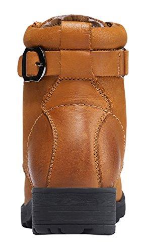Loblan 0638 Bottines Chelsea en cuir Homme Beige - Suède camel