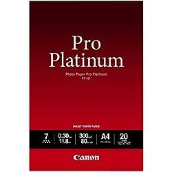 Canon PT-101 Papier Photo Pro Platinum Format A4 (20 feuilles)