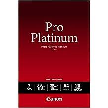 Canon 2768B016 PT-101 pro platinum photo paper inkjet 300g/m2 A4 20 Blatt Pack