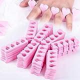 SOONHUA 50 st mjuk skumsvamp tåseparatorer fingeravdelare nagelkonst manikyr pedikyr verktyg