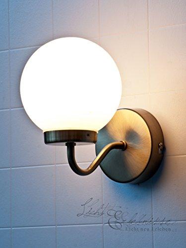 Edle Wandleuchte IP44 Badezimmer in Bronze Weiß E14 Jugendstil Wandlampe Badleuchte