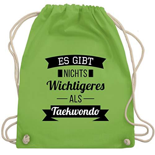 Kampfsport - Es gibt nichts Wichtigeres als Taekwondo - Unisize - Hellgrün - WM110 - Turnbeutel & Gym Bag