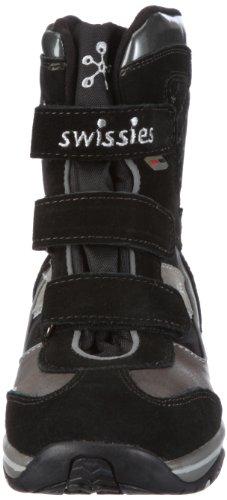 Swissies Fiona 2-036, Bottes fille Noir-TR-F5-136
