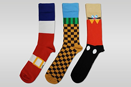 Image of Official SEGA Sonic the Hedgehog Socks (3 pairs)