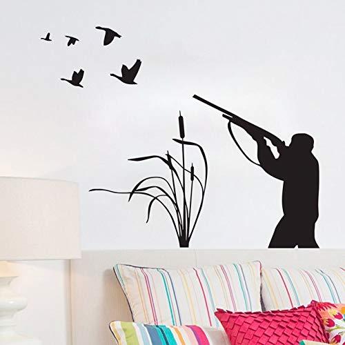 Vogeljagd Wandtattoos Vinyl Kreative Aufkleber Wohnkultur Wohnzimmer Wand Dekorative Hunter Wandaufkleber Klebstoffcm 72x56cm