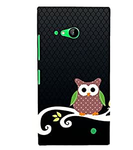 Animated OWL Pattern 3D Hard Polycarbonate Designer Back Case Cover for Nokia Lumia 730 :: Microsoft Lumia 730 :: Microsoft Lumia 735