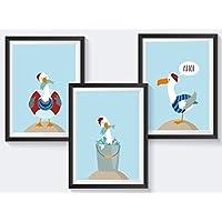 Kinderzimmer Poster maritim - A4 Kinderposter - 3er Set