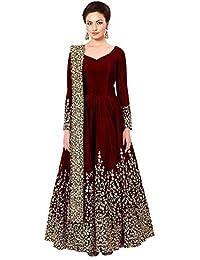 d85a6ba8071b Gown For Women s Taffeta Silk Embrodery Anarkali Gown Free Size