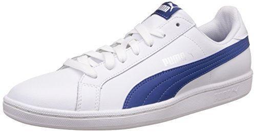 Puma Smash Leather, Tennis Adulte Mixte Blanc (Puma White-true Blue 21)