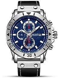Zz max Reloj Deportivo Reloj de Pulsera multifunción Vintage para Hombres de Negocios al Aire Libre