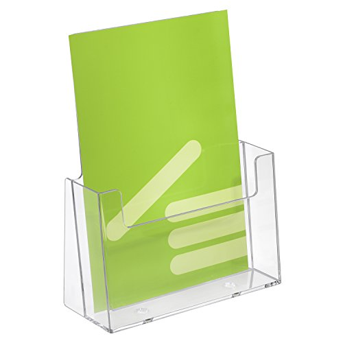 5 pezzi formato DIN A5 Espositore/Espositore da tavolo/Espositore da tavolo in formato verticale trasparente
